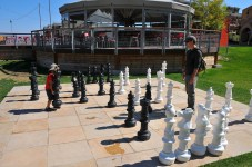 Giant chess set at the Canyons.