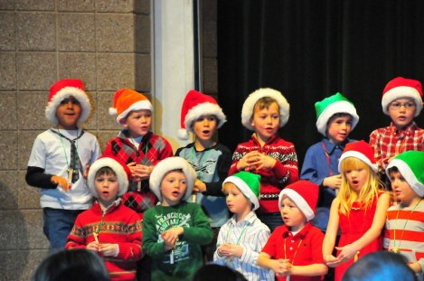 Tory sings with his class