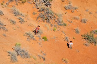 Sand hill splash down.