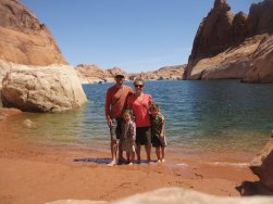 The family at Lake Powell