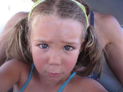 Tegan up close