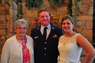 Grandma Moe and the wedding couple