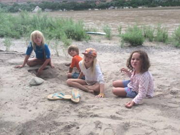 Kids and sand and fun oh my