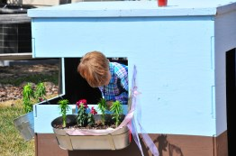 Tory checks the playhouse