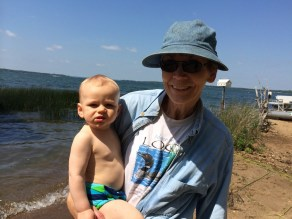 Freddie gets a little sun with Grandma