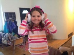 Hello Kitty ear muffs!
