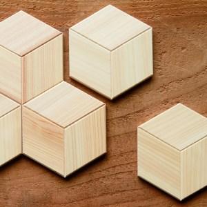 WoodTile Hexa ウッドタイル:ヘキサ【ヒノキ】