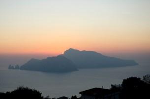 Sunset over Capri