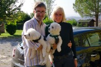 The family leaving Tuscany in October