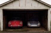 The Porsche 356 coupe and replica 550 Spyder
