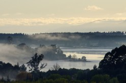 Morning Mist over Waimea Inlet