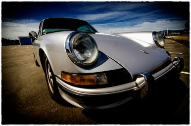 A gratuitous shot of the 911 used as transport for the shoot