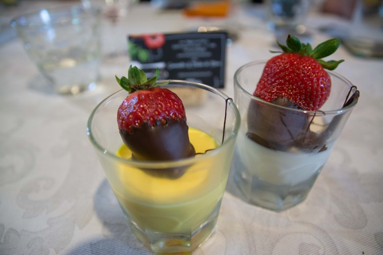White and Yellow<br>Panna Cotta
