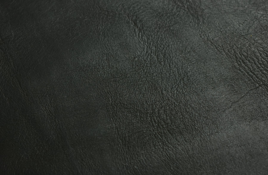 Nero, a black full grain, vegetable tanned steer hide - coming soon
