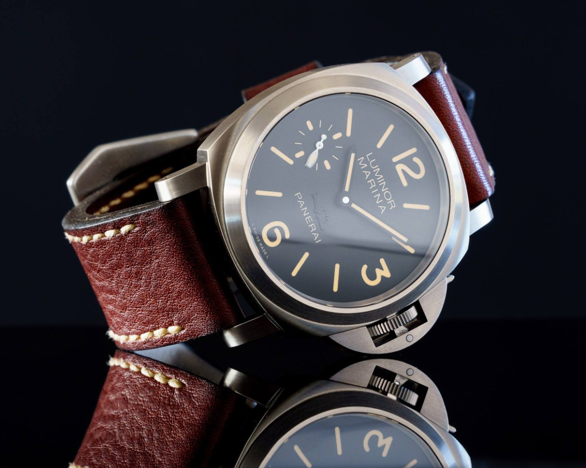 Panerai 913 on Cyclone leather with natural stitching. © Martin Tyler