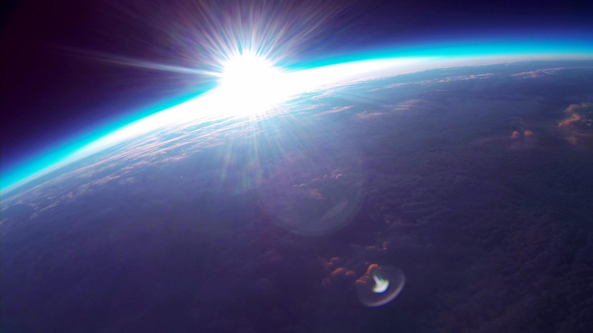 宇宙から見た太陽の画像で第7チャクラを整える