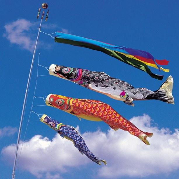 100-cm-Bandeiras-Birutas-carpa-Koi-nobori-Peixe-Koinobori-Japon&ecirc