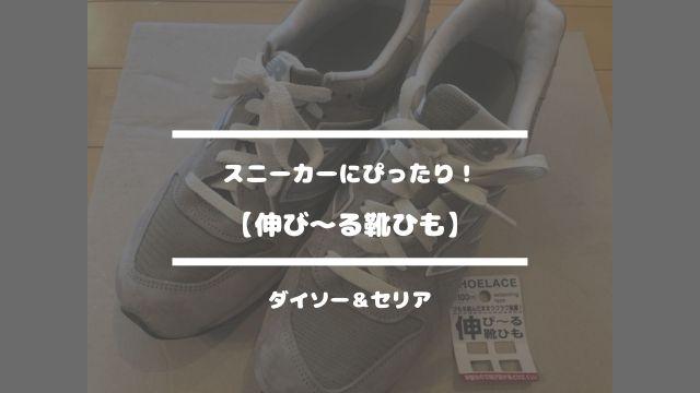 スニーカーにぴったり!【伸び〜る靴ひも】ダイソー&セリア