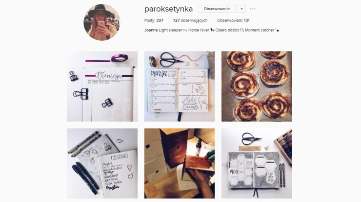 bullet journal po polsku instagram