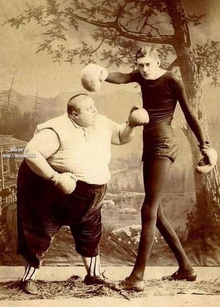 fat skinny boxer