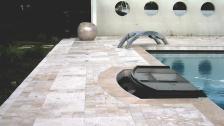 swimming pool travertine floors