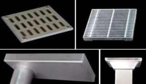 橋梁用排水桝、目皿グレーチング、枠形状例