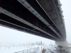 橋梁用排水管のφ200で寒冷地へ