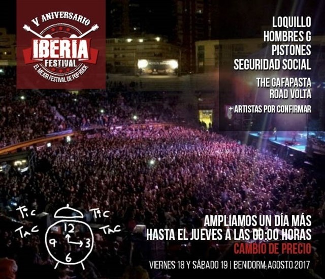 ultimo cartel Iberia Festival 2017