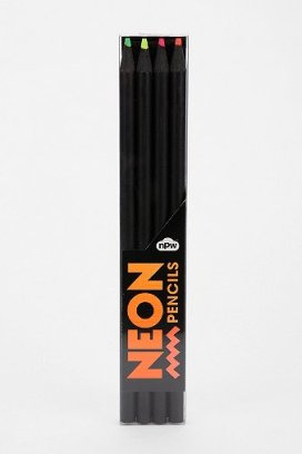 Neon Pencil - Set Of 4