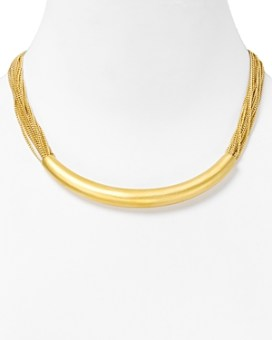 Carolee Lux Multi Row Gold Chain Necklace, 16