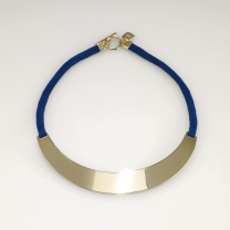 Suede & Gold Choker Necklace
