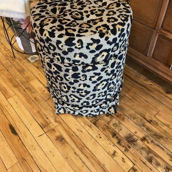 Cute Cheetah Print Vanity Stool with Storage