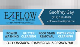 EZ Flow Business Card, Front Side, by Tossing Seeds, LLC