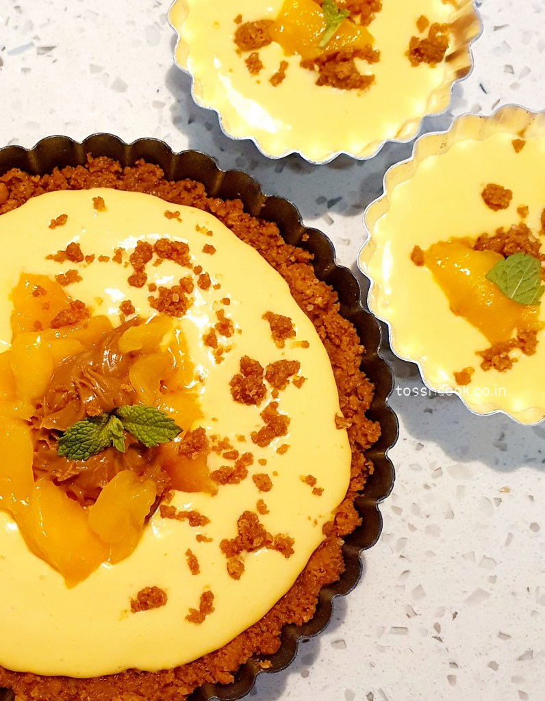 No Bake - Mango Lotus Tart