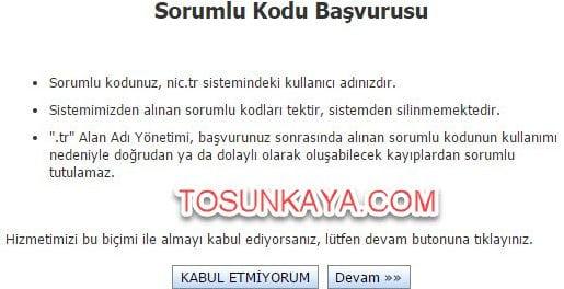adsoyad.com.tr domain alma belgesiz nic.tr 6 sorumlu kodu başvurusu