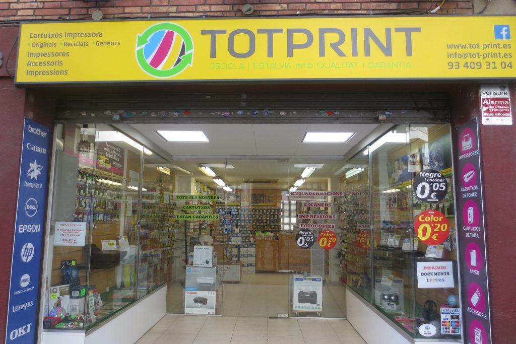 tienda física cartucho tinta barcelona