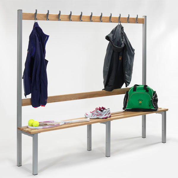 Bench seat single sided with hook board