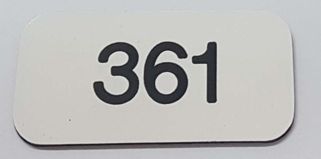 Locker number discs