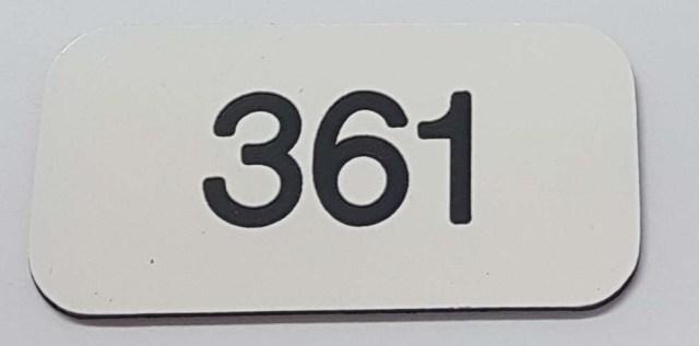 Locker number discs