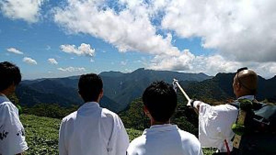 大峰山から熊野方面を望む