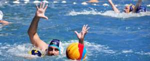 Water polo hands off foul