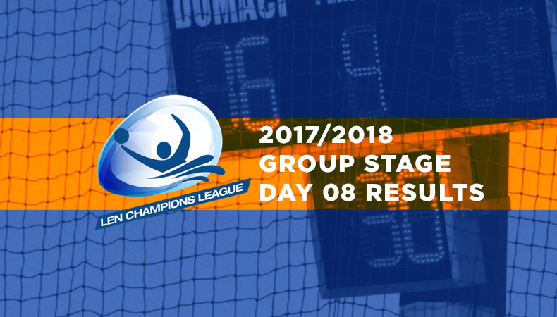 LEN-champions-league-2017-2018-Group Stage Day 08 Results