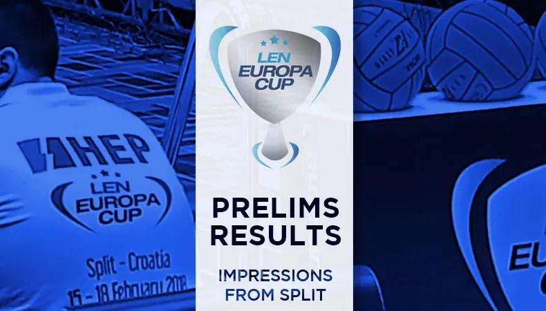 Mens Europa Cup 2018 Prelims Results