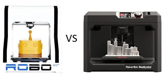 robo 3d plus vs makerbot replicator 5