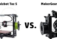 Lulzbot Taz 5 vs MakerGear M2 Comparison