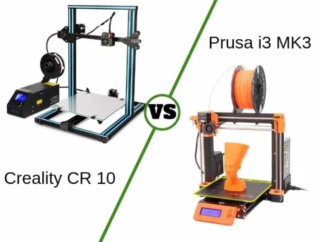 Creality CR 10 vs. Prusa i3 Compared