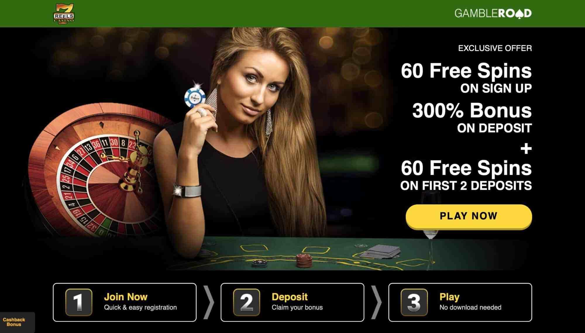 7 Reels Casino - Get 60 Free Spins + 300% Deposit