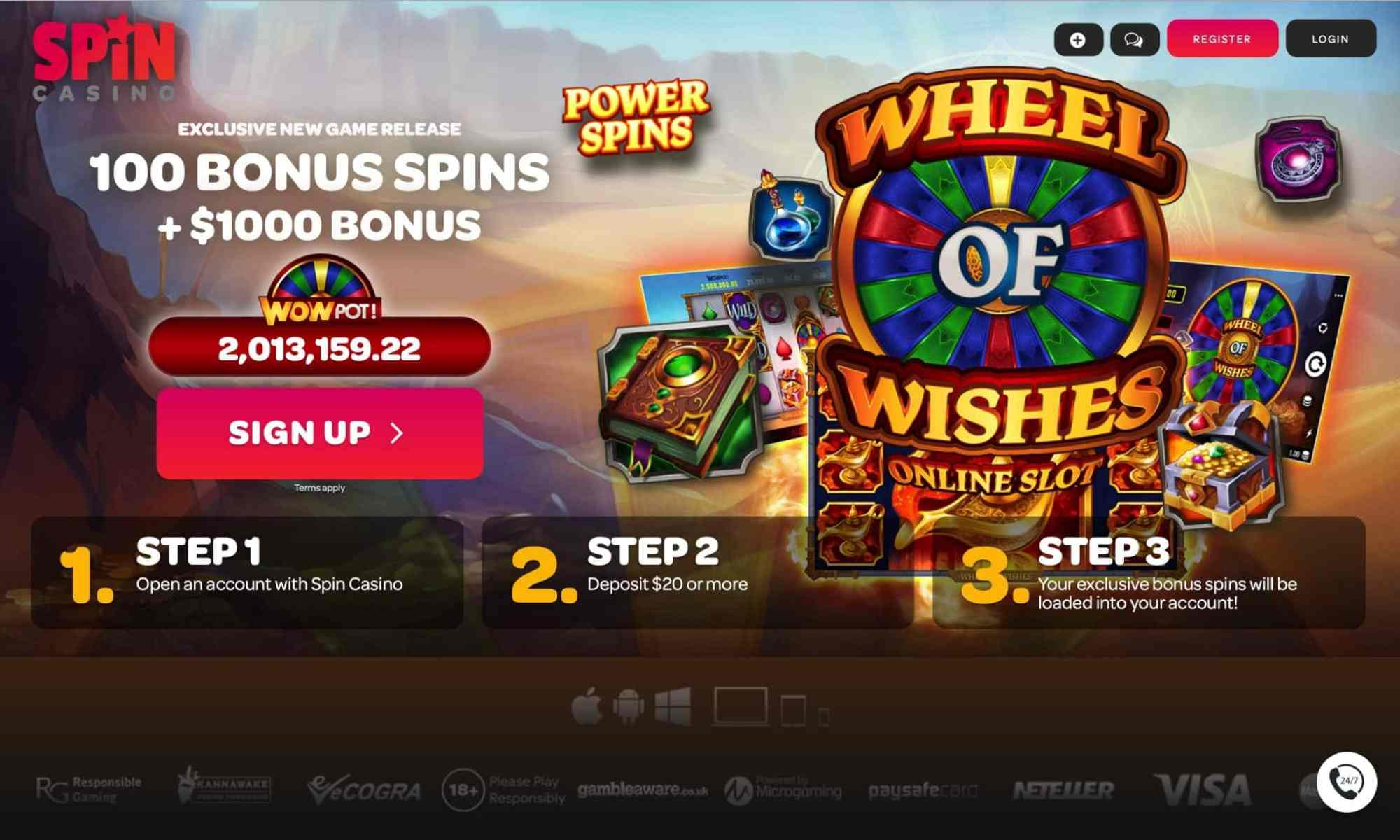 $1,000 Bonus At Spin Palace Casino. 100% Match Bonus On Your First Second And On Your Third Deposit!