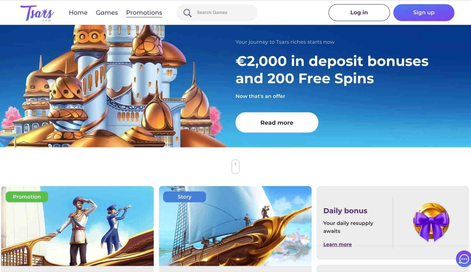 Tsars Casino Review - € 2000 Match Bonus Plus 200 Free Spins