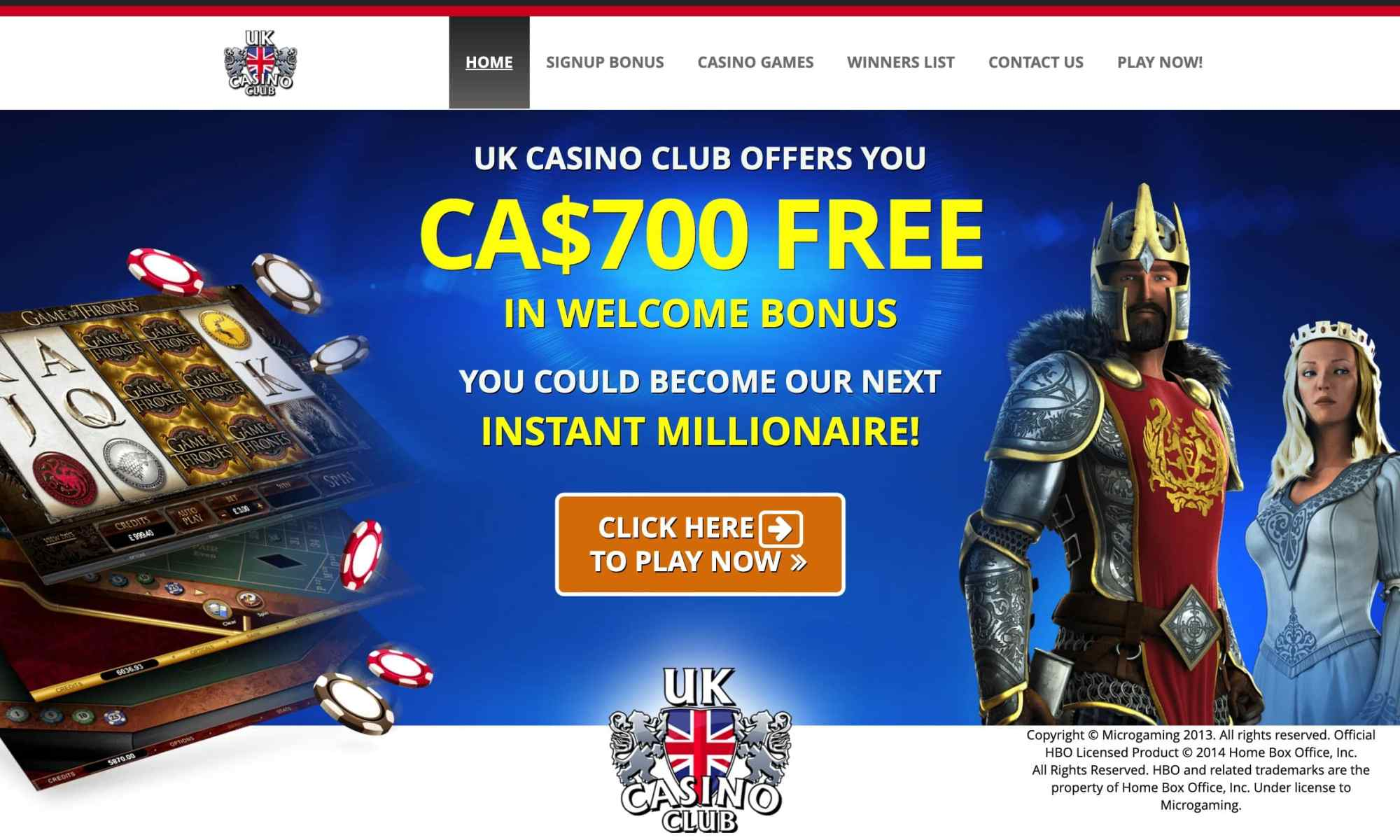 Uk Casino Club - £700 Vip Rewards In New Interactive Gaming